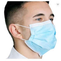 Cheap Disposable Face Mask Blue Color With Earloop And Three Layer Protective Mask,Disposable Nonwoven Face Mask With 3 Ply for sale