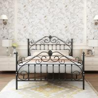 Cheap Furniture Wrought Iron Bed Frames Queen Size , 14 Inch Bed Frame Queen for sale