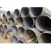 """Black Painting Seamless Mild Steel Tube / Seamless Carbon Steel Pipe 1"""" - 18"""" Manufactures"""