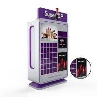 Cheap 220V Makeup Coin Vending Machine , Self Service Lipstick Vending Machine for sale