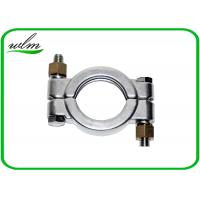 China Hygienic High Pressure Pipe Clamps With Automatically Adapt Fastening Forces on sale