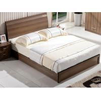 Cheap Cheap style rent Apartment home furniture melamine plate bed 1.2m- 1.5m-1.8 m light walnut color for sale