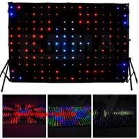 Cheap RGB LED vision curtain for show with fireproof black velvet for sale