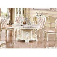 Cheap dining room furniture wood round marble top dining table for sale
