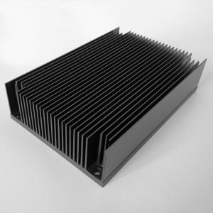 Cheap Black Anodized Aluminium Water Cooling Heatsink Profiles High Strength for sale