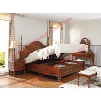 Cheap Ancient Rome style Solid Wood Bed with Storage in Bedroom Furniture sets for sale