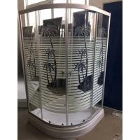 Palm tree shower cabin with tray , bathroom shower cubicles pop - up Waste drain Manufactures