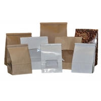 Cheap Semitransparent 5kg Paper Bags With Clear Window for sale