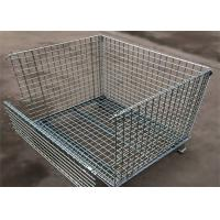 Cheap 4 Tiers Other Material Handling Equipment / Stainless Folding Steel Wire Container for sale