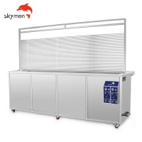 Cheap Double Tanks 330L Vertical Ultrasonic Blind Cleaning Machines 40KHz for sale