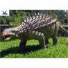Life Size Animatronic Dinosaur Realistic Resin Waterproof Ankylosaurus Display for sale
