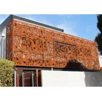 Cheap Laser Cut Corten Steel Panel / Screen Wall Mounted Metal Sculpture Rusty Naturally for sale