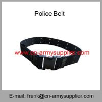 Wholesale Cheap China Army PP Polyester Navy Blue Military Police Belt