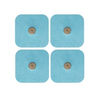 Cheap QS-TECH physical therapy electrode pad 5x5cm snap button electrode for sale