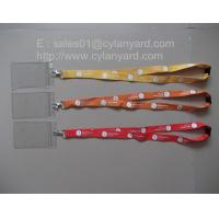 China polyester ID tag lanyards, ID badge holder lanyards, on sale