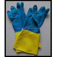 Cheap Rubber Contrast Color Gloves/Rubber Latex Gloves for sale