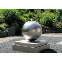 Cheap Brushed Outdoor Wangstone Decor Sculpture Stainless Steel Water Ball Fountain for sale