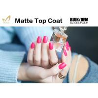 Cheap Easy Soak Off  Nail Art Top Coat Uv Gel No Wipe Matte Type Good Saturation for sale