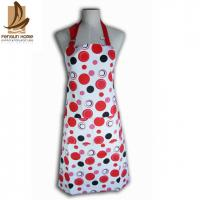 Cheap Cotton Canvas Red And White Polka Dot Apron Custom Cooking Aprons for sale