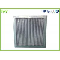 Cheap H11 H12 H13 Deep Pleated Hepa Filter , Hepa Furnace Filter With Large Dust Holding Capacity for sale