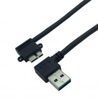 Straight Angled A M To Micro B M USB 3.0 Panel Mount Cable with Screw Manufactures