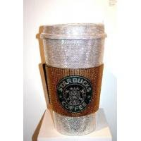 Cheap glitter crystal dimond sticker for paper cup for sale