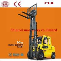 Cheap 5.0T Heavy Diesel Forklift Truck 500mm Load Center With Mechanical Manual Paking Brake for sale