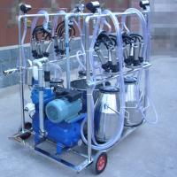 Diesel Engine Eletric Motor Mobile Sheep Milking Machine 550 l / Min Vacuum Pump Capacity Manufactures