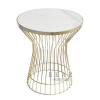 Buy cheap Living Room Furniture Marble Top Side Table Gold from wholesalers