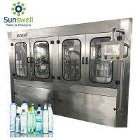 Cheap Rotary Water Filling Machines 36000BPH High Capacity Liquid Bottled Plant for sale