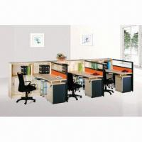 Quality Straight Line Modular Office Workstations With Cable Hole And  Moving Cabinet Wholesale