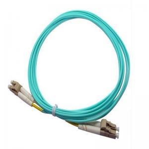Cheap LC / PC  Aqua  Multimode OM3 Optical Fiber  patch cord for communication for sale