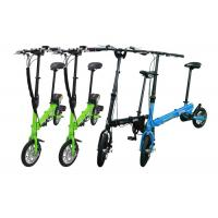Green Color Lightweight Folding Bike 12 Inch Wheels  For Leisure / Travel