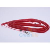 Quality Elastic Fishing Boat Kayak Paddle Leash Red Safety With 2 Quick Release Snaps wholesale