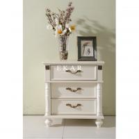 Cheap white nightstand with 3 drawers bedsides table for sale