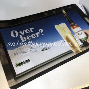 Cheap ROHS Standard Neoprene Fabric Roll Bar Mats 3D Logo Custom Printing for sale