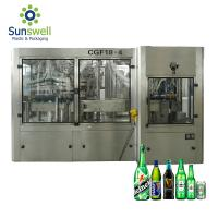 Cheap Can Beer Production Line Complete Automatic Rising Filling Screwing 3 In 1 Monoblock for sale