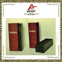 Cheap Luxury Black Cardboard Paper Wine Top And Bottom Rigid Gift Boxes Without Handle for sale