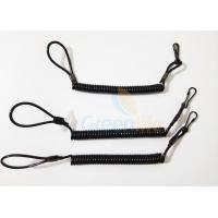Cheap High Strength Pistol Bungee Coil Lanyard for sale