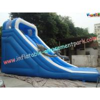 Customised 18 OZ PVC Dolphin Commercial Inflatable Slides For Amusement Parks 8 x 4 x 5M