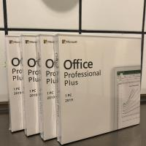 Cheap Key Card Microsoft Office Professional Plus 2019 English DVD BOX Multi Language for sale