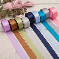 Cheap Factory price polyester solid color single/double faced satin ribbon for sale