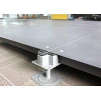 Cheap SGS Network False Floor , Bare Finish Office Cementious Infill Steel Raised Floor for sale