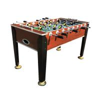 Professional 5 FT Soccer Game Table Wood Color Steel Rod For Entertainment
