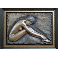 Cheap Professional Metal Relief Sculpture , Nude Woman Wall Relief Sculpture for sale