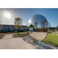 Cheap Morden Highly Polished Stainless Steel Sculpture Torus For Lawn Featuring for sale