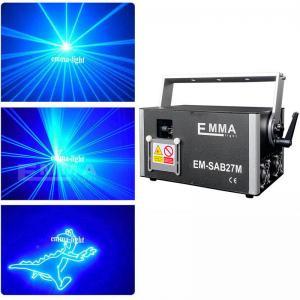Cheap 4W blue Laser Stage Light Pro DMX-512 Lighting Laser Projector Party DJ Light for sale