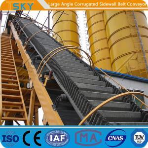 Cheap 160mm Sidewall 3.15m/s B1200 High Angle Belt Conveyor for sale