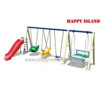 China Wave Plastic Slide Children Swing Sets , Outdoor Swing Sets For  Park RHA-15803 on sale