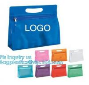 China pvc slider zipper baby clothes packaging bag, slider zipper golf sport t-shirt/towel bag, A4 office file holder slider b on sale